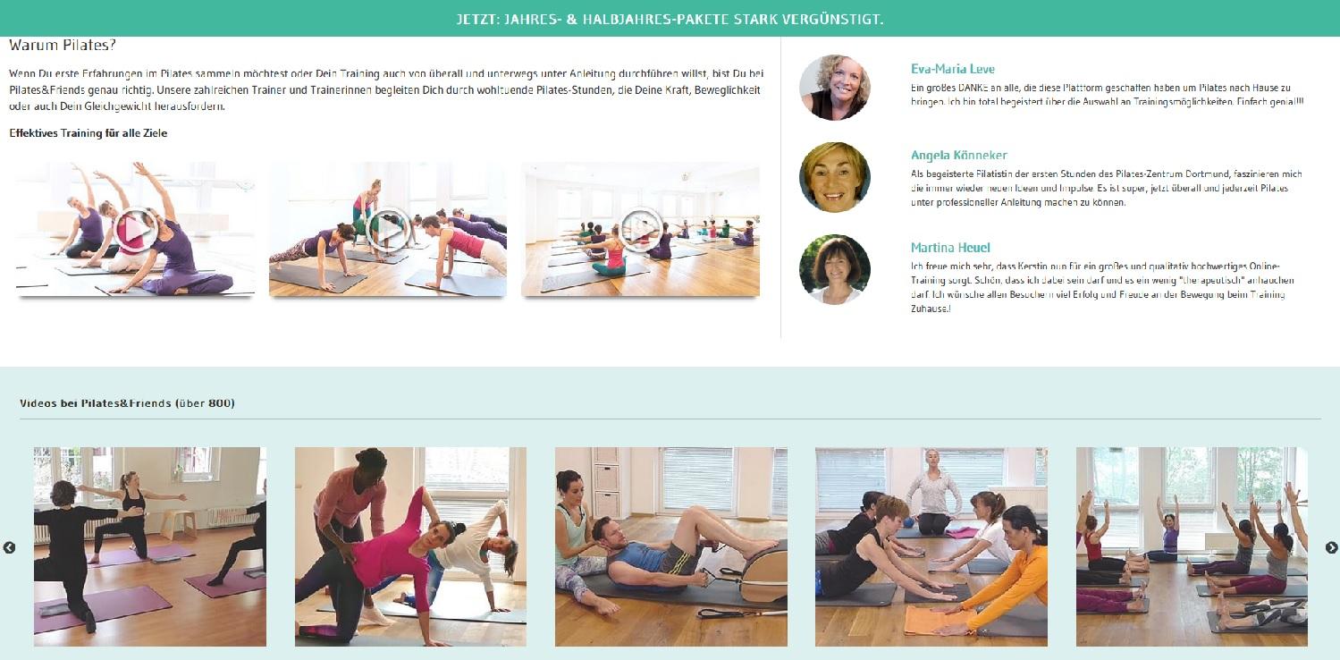 Pilates&Friends für mehr Fitness und Wohlbefinden
