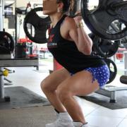 Eine Übung für Training Zuhause für Beine und Po
