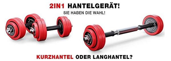 Kurzhantel-Langhantel-Set