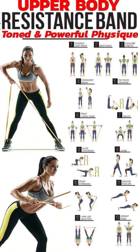 Übungen für Zuhause mit dem Fitnessband